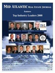 Top Industry Leaders 2008 - Mid Atlantic Real Estate Journal