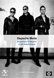 Depeche Mode am 17.06.2013 zu Gast in der Imtech Arena - HSV