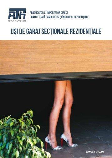 UȘI DE GARAJ SECȚIONALE REZIDENȚIALE