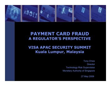 PAYMENT CARD FRAUD - Visa Asia Pacific