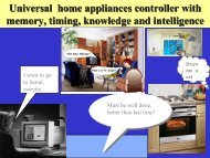 Universal home appliances controller with memory, timing ...