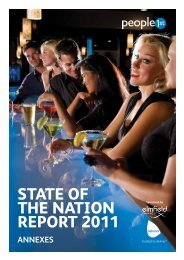 State of the NatioN RepoRt 2011 ANNEXES - People 1st