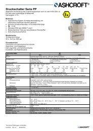 Datenblatt PP - Ashcroft Instruments GmbH