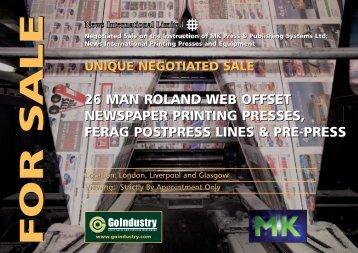 26 man roland web offset newspaper printing presses, ferag ...