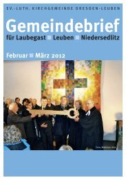 Gemeindebrief Februar / März 2012 - Ev.-Luth. Kirchgemeinde ...