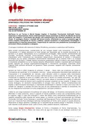 creatività innovazione design - Torino Strategica