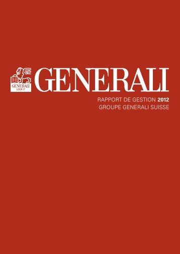 1 GENERALI Suisse, rapport de gestion 2012
