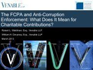 The FCPA and Anti-Corruption Enforcement: What ... - Venable LLP