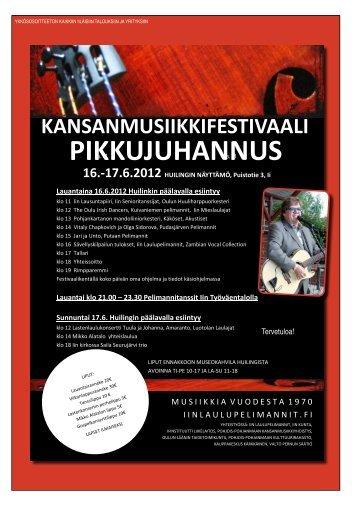 iin pikkujuhannus kansanmusiikkifestivaali 2012 - Pudasjärvi-lehti ja ...