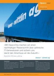 Â«Mit OpaccOne machen wir einen nachhaltigen ... - EDP-Services AG