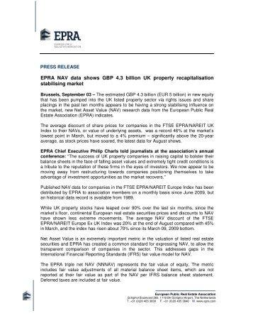 EPRA NAV data shows GBP 4.3 billion UK property recapitalisation ...