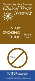 Stop Smoking Study: Should I join? - National Institute on Drug Abuse