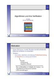 Algorithmen und ihre Verifikation Motivation - Telematik TH Wildau