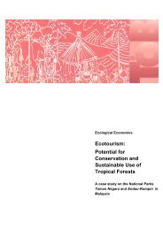 Ecotourism: Potential for Conservation and Sustainable Use of ... - Gtz
