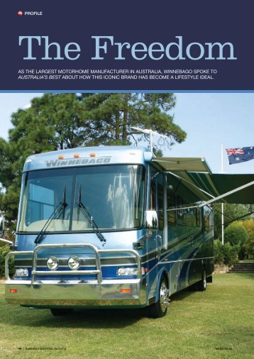 AS THE LARGEST MOTORHOME MANUFACTURER IN ...
