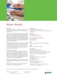 Kurser i Emme/2 - WSP Group