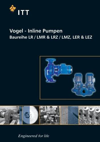 VOGEL Inline Pumpen, Baureihe LR / LMR & LRZ / LMZ