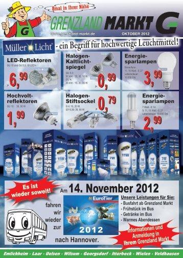 Am 14. November 2012 - Grenzland Markt