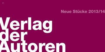 Stückebroschüre 2013/2014 - Verlag der Autoren
