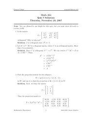 Math 224 Quiz 7 Solutions Thursday, November ... - Kenyon College