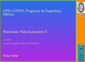 Programa de Engenharia Elétrica Sistemas N˜ao-Lineares I Aula ...