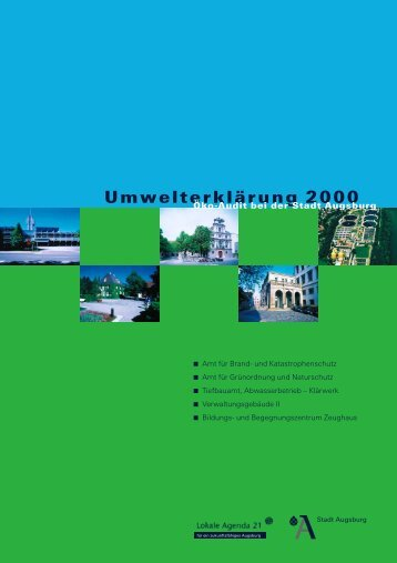 Umwelterklärung 2000 - Umweltmanagement Augsburg - Stadt ...