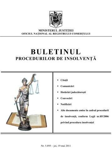 BULETINUL PROCEDURILOR DE INSOLVENłĂ