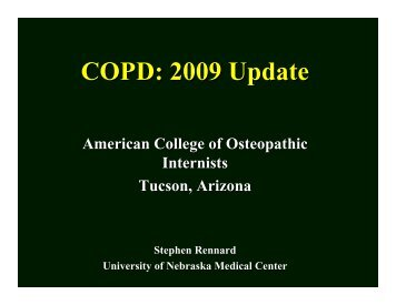 COPD: 2009 Update - American College of Osteopathic Internists