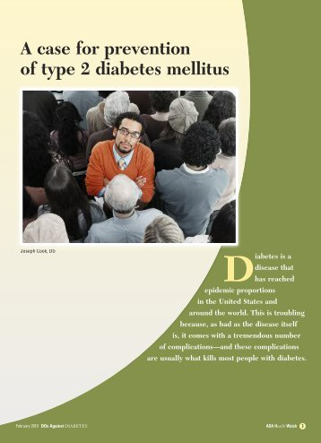 A case for prevention of type 2 diabetes mellitus - CECity