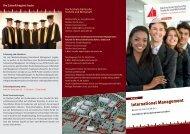International Management - Fakultät für Wirtschaftswissenschaften ...