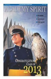 May 29 - United States Air Force Academy