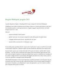Progetto Multisport: progetto 2013 - Intranet - Sporting Club
