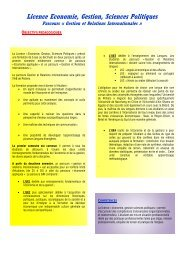 Licence Economie, Gestion, Sciences Politiques - IAE de Poitiers