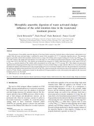 Mesophilic anaerobic digestion of waste activated sludge: influence ...