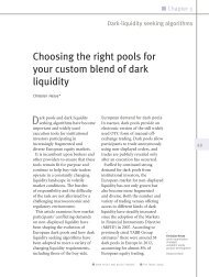 Choosing the right pools for your custom blend of dark ... - Autobahn