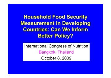 International Congress of Nutrition