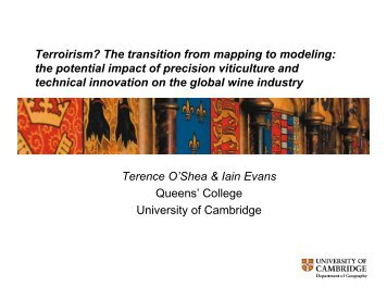 Terroirism? The transition from mapping to modeling: Terroirism ...