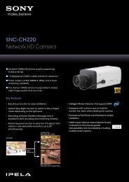 SNC-CH220 - Sony Professional Solutions Asia Pacific