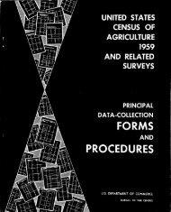 Principal Data-Collection Forms and Procedures - USDA Economics ...