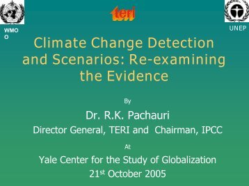 Climate change - Yale Center for the Study of Globalization