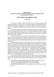 Dati e aspetti sugli impianti a fune - Europroject-online.it