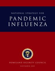 THE NATIONAL STRATEGY FOR PANDEMIC INFLUENZA - Flu.gov