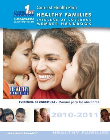 Healthy Families Program, HFP - Care1st Health Plan