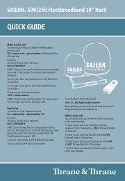SAILOR® 500/250 FleetBroadband 19
