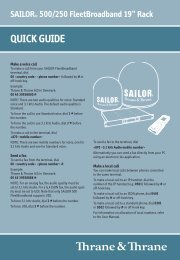 SAILOR® 500/250 FleetBroadband 19