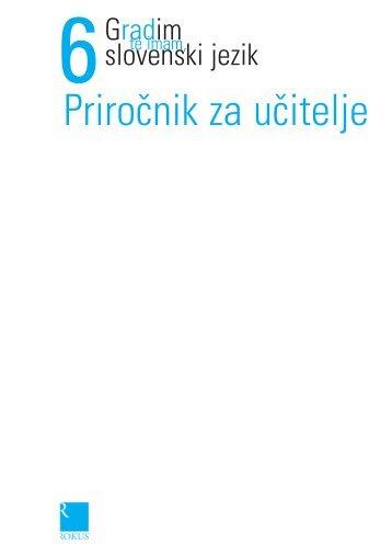 Gradim slovenski jezik 6 - priročnik za učitelja