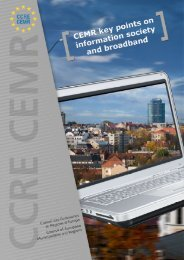 Information Society and Broadband - Council of European ...