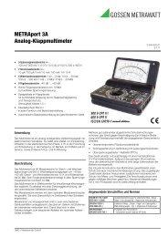 METRAport 3A Analog-Klappmultimeter - Gossen-Metrawatt