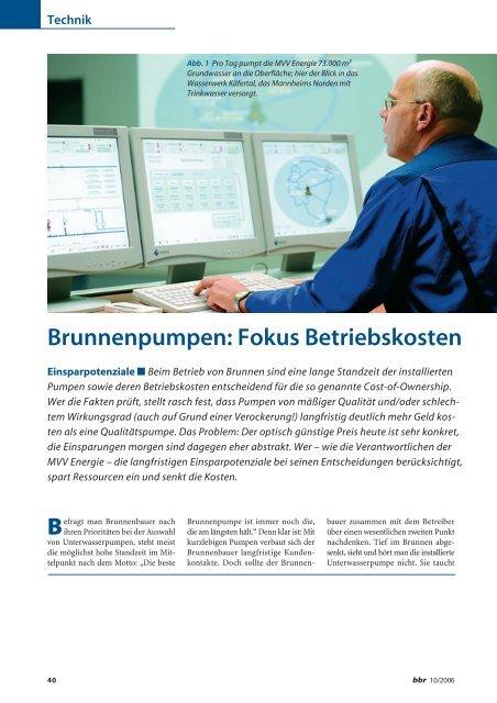 Brunnenpumpen: Fokus Betriebskosten - Grundfos