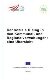 Der soziale Dialog in den Kommunal - Council of European ...